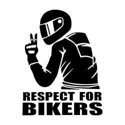 Autocollants motard V respect