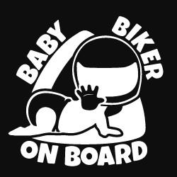Autocollant bébé motard à bord