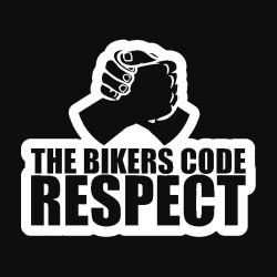 Autocollant le respect du motard