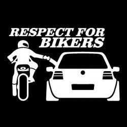Autocollant respect pour les motards
