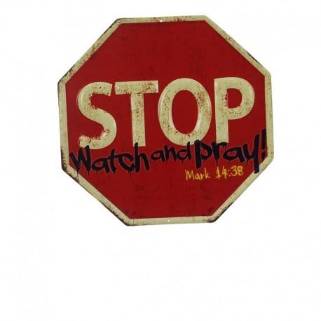 Plaque métallique STOP