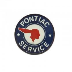 Plaque métallique PONTIAC SERVICE