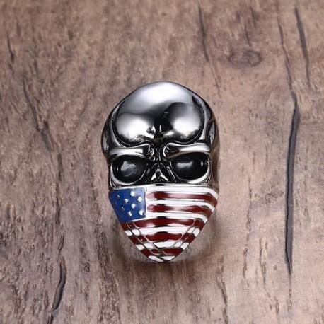 Bague USA Biker
