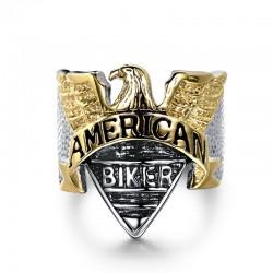 Bague American BIKER