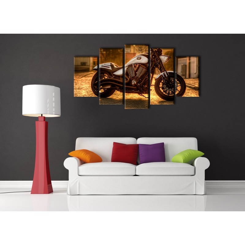 tableau 5 pi ces de moto hammer. Black Bedroom Furniture Sets. Home Design Ideas
