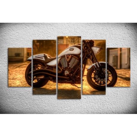 Tableau de moto type HAMMER sur toile