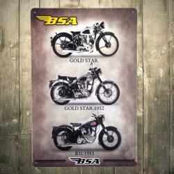 Plaque métallique BSA