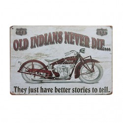 Plaque métallique OLD INIDANS
