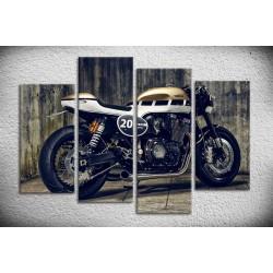 Tableau de moto type CAFE RACER sur toile