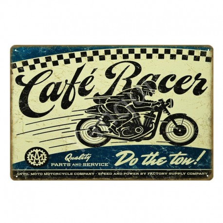 Plaque métallique Café Racer