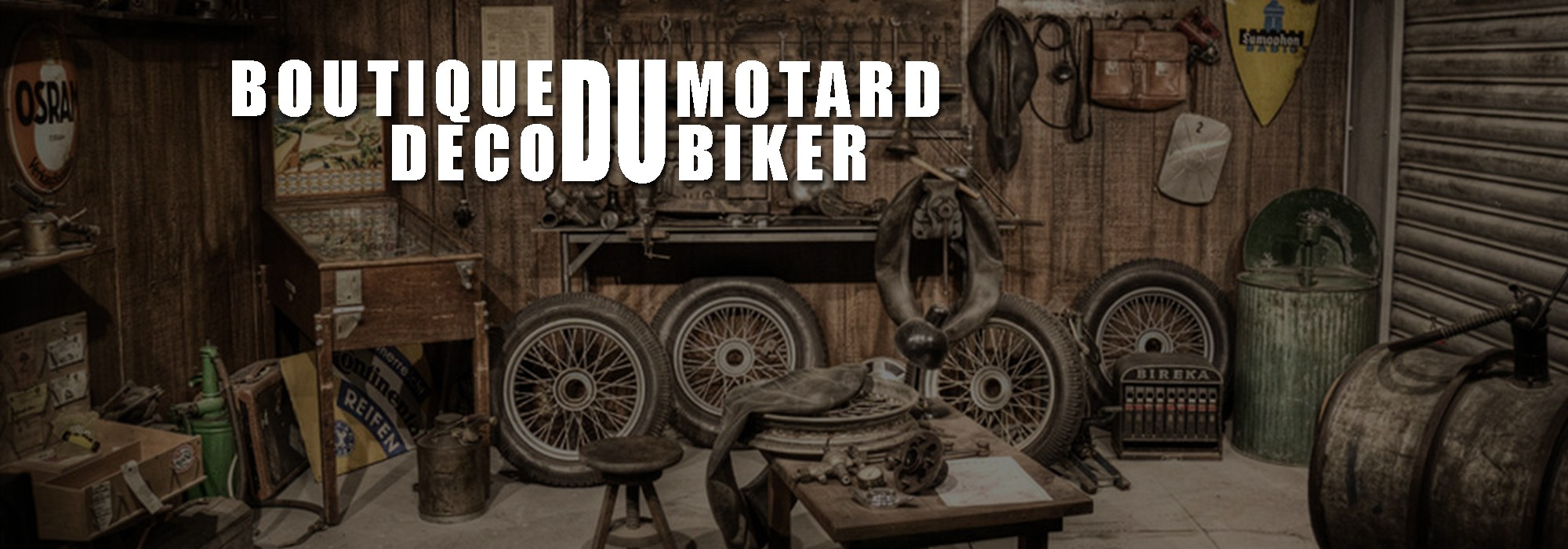 La boutique décorative du motard